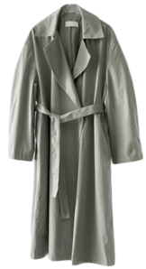 dry one button trench coat
