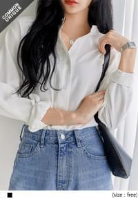 UNBAL LOOSE CHINA COLLAR BLOUSE