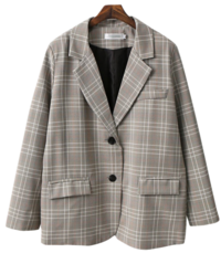 Women's Check Jacket Spring Outer jacket