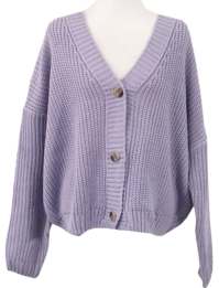 Ribbed Waffle knit cardigan-4color