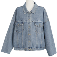 NURSE DENIM JACKET-Natural hem