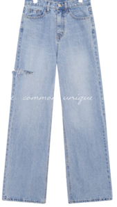 MARDI DAMAGE LONG DENIM PANTS jeans
