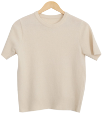 Cashmere Short Sleeve Knit-Spring Spring Short Sleeve Knitwear knitwears