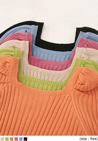 MILAN GOLGI SQUARE NECK KNIT