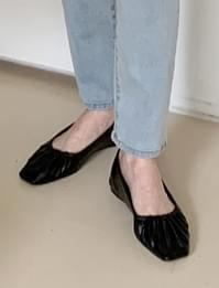 Wrinkle point flat shoes_C (size : 225,230,235,240,245,250)