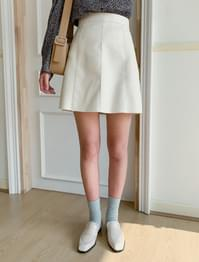 High West A-Line Leather Skirt