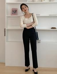 Daily slim boots-cut slacks_P