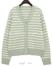KIRA STRIPE KNIT CARDIGAN