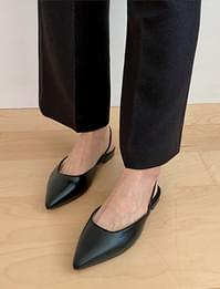 Sharp line sling back shoes_P