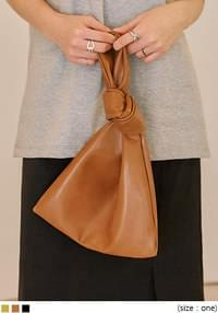 LUCE KNOT LEATHER BAG