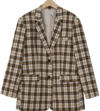 London basic check jacket_J