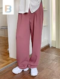 Coco mood loose pintuck slacks