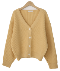 Fudge bongbong soft cardigan_P 開襟衫