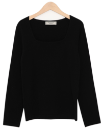 Mind square neck knit