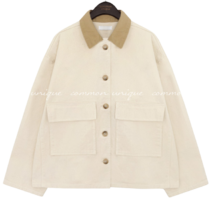 COLORING COLLAR COTTON JACKET