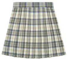 Heart Pleats Skirt (Brown Check)