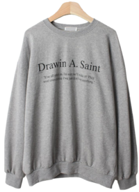 Throw-in English Lettering sweat shirt 長袖上衣