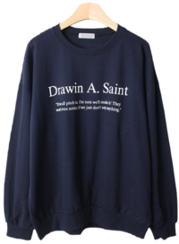 Throw-in English Lettering sweat shirt