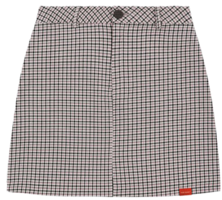 Heart Check Skirt (Beige)