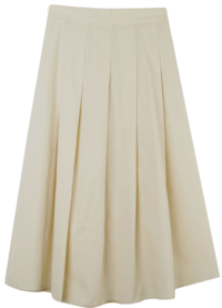 Bebe cotton pleated skirt