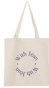 Lettering with eco bag_C (size : one)