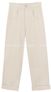 TERO ROLL UP WIDE COTTON PANTS