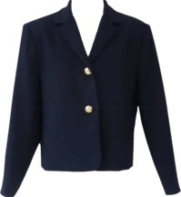 Retro gold-button French short jacket