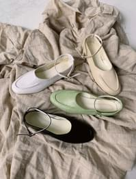 4-colour girly strap flat shoes