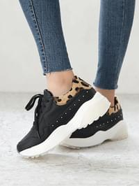 CHIENT LEATHER SNEAKERS 5cm