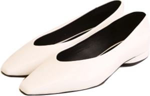 SLEEK V LINE SQUARE FLAT SHOES