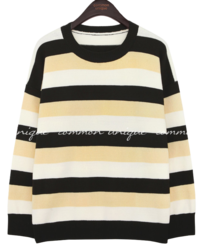 TOLER COLORING STRIPE ROUND KNIT