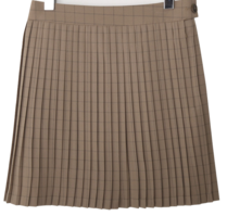 London check slim pleats skirt