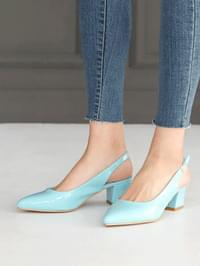 Bubble Pop Slingback Middle Heel Pumps 5cm