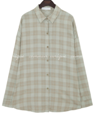 MACA CHECK LOOSE FIT SHIRTS