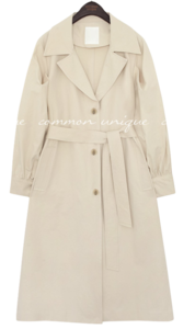 MERDI PUFF TRENCH COAT 大衣外套