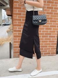 Layered midi skirt