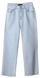 Ice wide denim pants