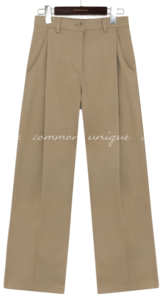 RONIN PINTUCK WIDE COTTON PANTS
