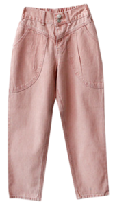 Color Washed Cotton Pants