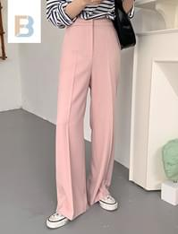 Pastel semi-wide pants