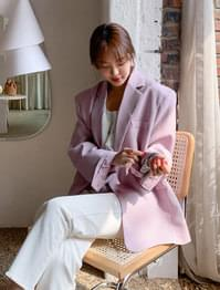 Pastel single button overfit jacket