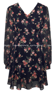 ALLY FLOWER CHIFFON MINI OPS