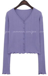 PERON GOLGI WAVE V NECK CARDIGAN