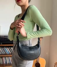 Leather Crescent Bag