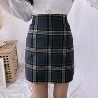 Chess big check skirt