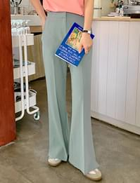 Slit Boot Cut Slacks
