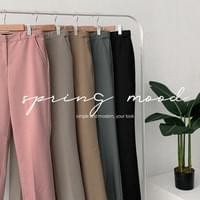Soft Hidden Bending Wide Slacks