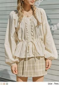 SUGAR FRILL STRING BUTTON BLOUSE