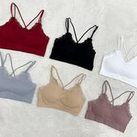 The more you buy, the more discount ♥ lace ribbed bralette