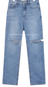 HUEY DAMAGE LONG DENIM PANTS